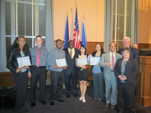 Photo by Sveri MayShannon Wee receiving her Social Justice Award on January 22 at the Kalamazoo City Commision meeting.