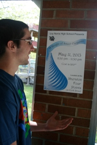 Photo by Mia Leibold Senior Ben Schreck is preparing to go to prom on Saturday.  Some organizations around the community offer post-prom packages such as bowling.