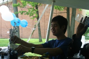 Foreign Exchange student Chatpong Paripurana celebrates the year at the Senior Luncheon on May 31, 2013.  Paripurana hails from Thailand where he especially enjoys the outdoor activity of fishing.