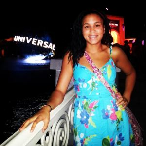 Savannah Pawlicki-Mason stands inside Universal Studios Theme Park during summer vacation. The 2012-2013 school year was her first year participating on the Loy Norrix Track and Field team.