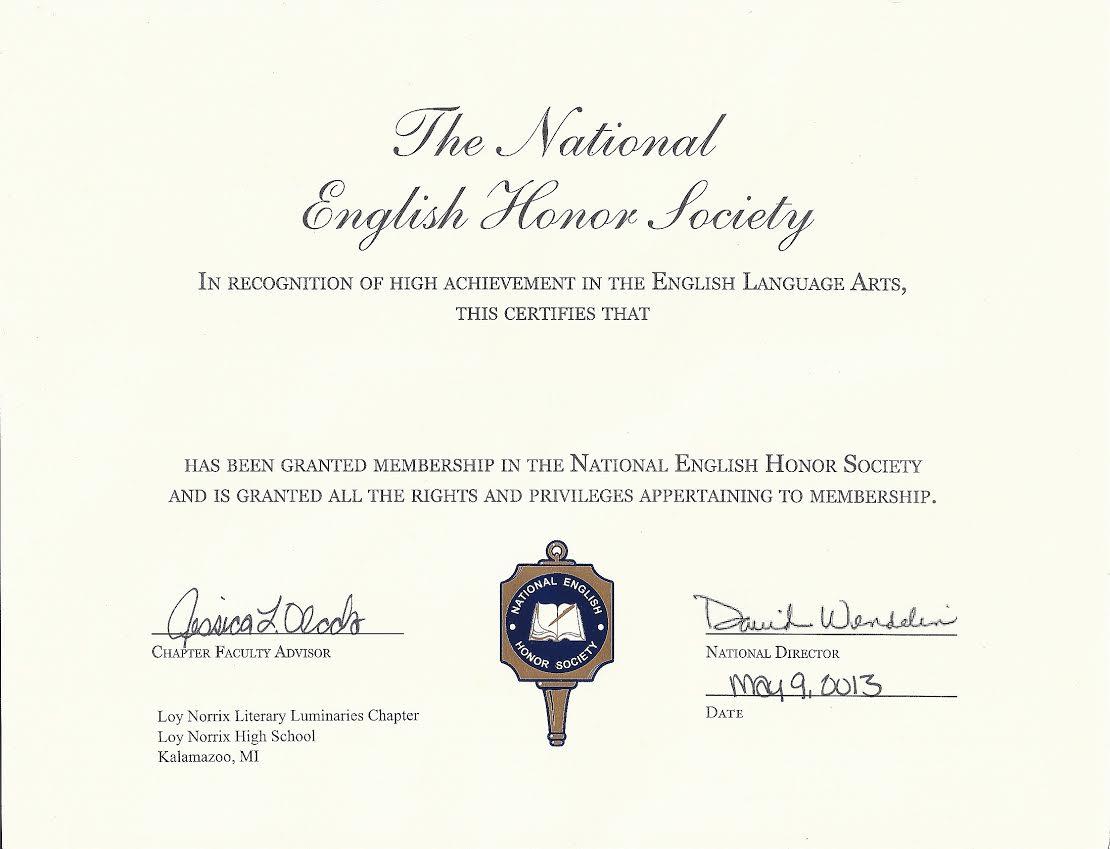 national english honor society application essay