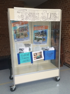 Photo by Rachel Wheat The Loy Norrix Travel Club advertises their wonderful trips through showcases like this one. They encourage every student to get involved in traveling.