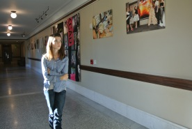 Lining nearly every hall was Kendall student art. Loy Norrix students had the opportunity to browse quite a bit of the fashion department's displayed art.