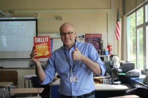 Even after a traumatic experience, Mr. Allen still promotes Cheez-Its.