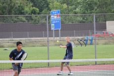 Chhay Wong plays Tennis with Thaddeus Pollard