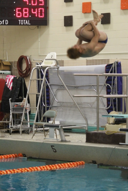 Chhay Wong dove for the Loy Norrix swim and dive team