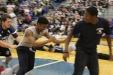 Junior male caterpillar team beats out senior boy team.