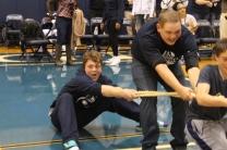 Sophmore tug of rope team falls flat. Losing to the freshman.