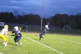 Traver Parlato delivering an amazing punt on fourth down.