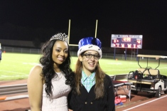 Homecoming queen Nessa Bogan, and Homecoming king Sabi Nieves, happy about their big win.