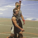 Nick May gets his hand raised after winning a match at States last year. May plans to have another successful season. Photo Credit / Steve May