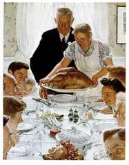 """""""Freedom from Want"""" by Norman Rockwell."""