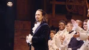 Lin-Manuel Miranda playing Alexander Hamilton.