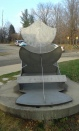 Sun dial right outside the center beside the parking lot. Shows the sun's rise and fall averages throughout the year.