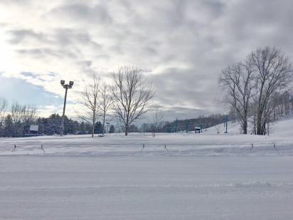 A view of the slopes before the start of the games. The games were held at Timber Ridge in Gobles, Michigan. Photo credit / Reace Hammel