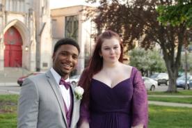 Senior Tony Whitelow and Junior Jada Mitchell. Photo Credit / Jordan Brown