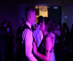 Seniors Alex Lutz and Kate Puca. Photo Credit / Jordan Brown