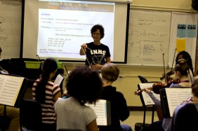 Ms. Sandra Shaw teaches orchestra at Loy Norrix. She also teaches at Kalamazoo Central and Maple Street. Photo Credit / Sidney Richardson