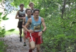 Senior Gabe Runyon and freshman Joe Meyers lead the pack during the SMAC East Jamboree. Photo Credit / Nick Loken
