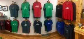Handmade Kalamazoo proudly shows off their large selection of handmade shirts. Photo Credit / Joshua Wild