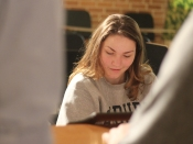 Junior Grace Erway is one of the co-captains of this year's team. She is in charge of the musical aspects of the performance. Photo Credit / Sidney Richardson