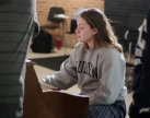 Junior Grace Erway plays the piano during the musical portion of their rehearsal. She is another mainstay in the theatre department at Loy Norrix. Photo Credit / Sidney Richardson