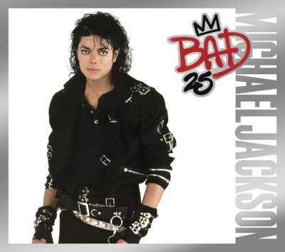 "A side by side comparison of Michael Jackson's album ""Bad"" from the '90s and Wiz Khalifa's album ""We Dem Boyz"" which came out in 2014."
