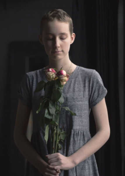 """A few months after Izze's treatment ended, she met with photographer, Olivia Stier, to capture photos that showed the romanticization Izze felt people used towards her illness. """"Cancer isn't about Make-A-Wish and little angel bald children, it's more. You can't forget about the endless pain the patient and their families go through,"""" said Izze. Photo Credit / Olivia Stier"""