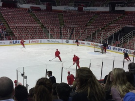The offensive and defensive players practice drills for the Tampa Bay game. Photo Credit / Abby Farrer
