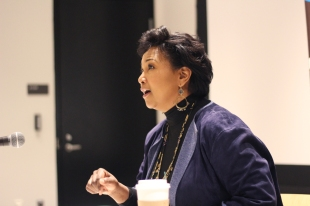 Mae Jemison gave a press conference at Western Michigan University regarding her upcoming talk at the university as well as her work with One Hundred Year Starship. Jemison also emphasized the importance of different perspectives in science. Photo Credit / Christian Baker