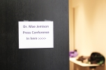 The press conference was located at Western Michigan University and prefaced a talk Jemison gave that night at the Kalamazoo Community Meeting. Photo Credit / Christian Baker