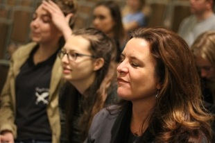 Even though Knight Life didn't win the Spartan Award, Tisha Pankop, disappointed, is overall extremely proud of her students for collecting a total of twenty-seven awards. PHOTO CREDIT / Izze Fahl