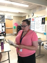 Kelly Stetten teaches her English class. She enjoys helping students grow.