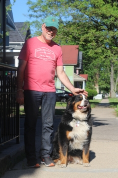 Owner, Jamie Kavanaugh and the family dog, Mack